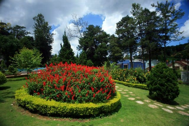 Khuôn viên biệt điện Trần Lệ Xuân
