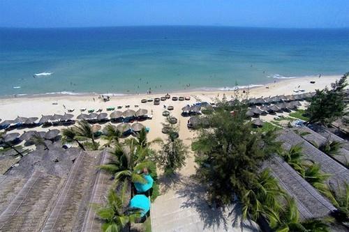 Biển An Bàng nhìn từ trên cao