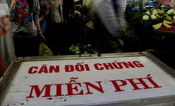 Cân đối chứng miễn phí tại chợ đầm nha trang