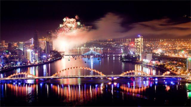 Toàn cảnh thành phố Đà Nẵng về đêm