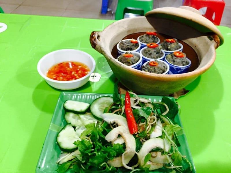 Quán ăn vặt ở Huế - Ốc nhồi Ly Sương Sa Dừa