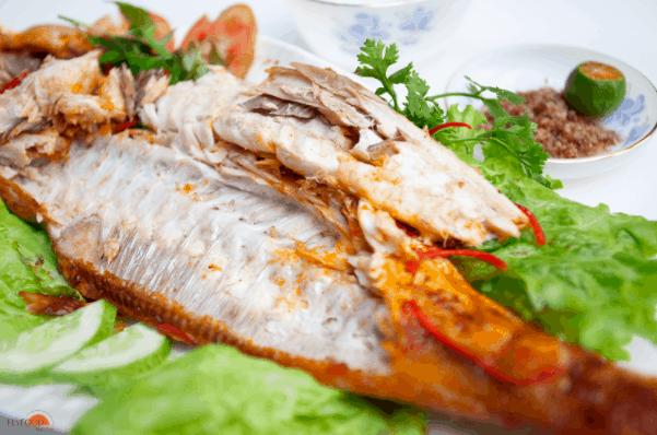 Món cá da bò nướng muối ớt