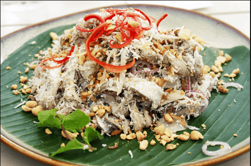 Gỏi cá trích - Món ăn hấp dẫn tại đảo Phú Quốc