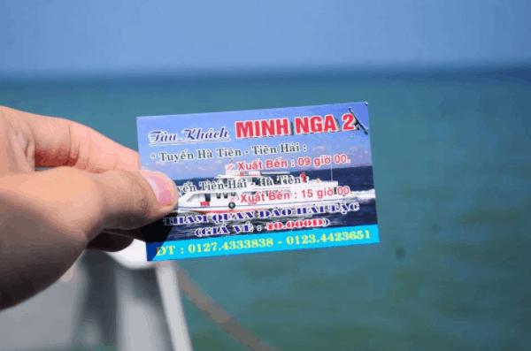 Vé tàu khách Minh Nga 2