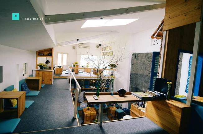 Căn gác của Ngôi Nhà Số 7 Café TP.HCM (ảnh sưu tầm)