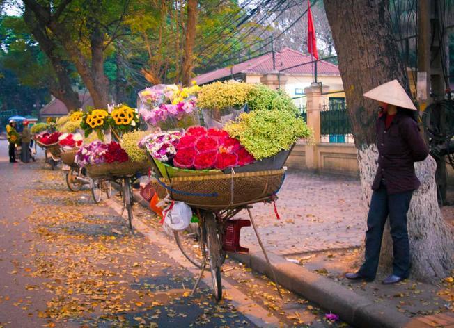 Xe hoa đặc sản đất trời Hà Nội