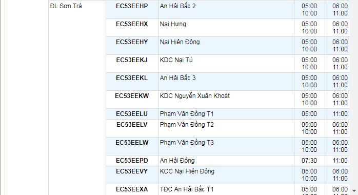 Lịch cắt điện Đà Nẵng tháng 9 mới nhất 02