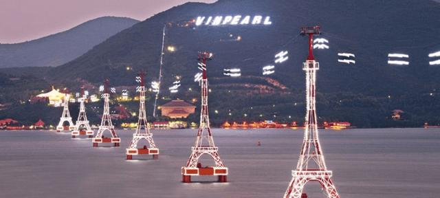Cáp treo Vinpearl Land Nha Trang là tuyến cáp treo vượt biển dài nhất thế giới (Ảnh: Sưu tầm)