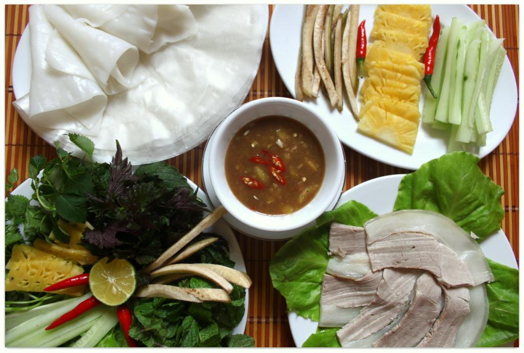 Bánh tráng cuốn thịt heo: đặc sản Đà Nẵng