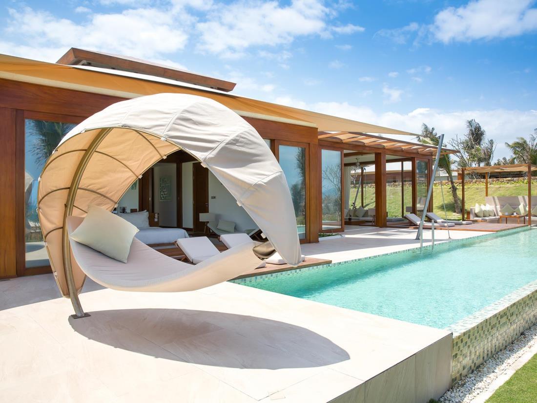 Võng mái vòm là một điểm nhấn trong thiết kế của Fusion Resort Nha Trang (Ảnh: ST).