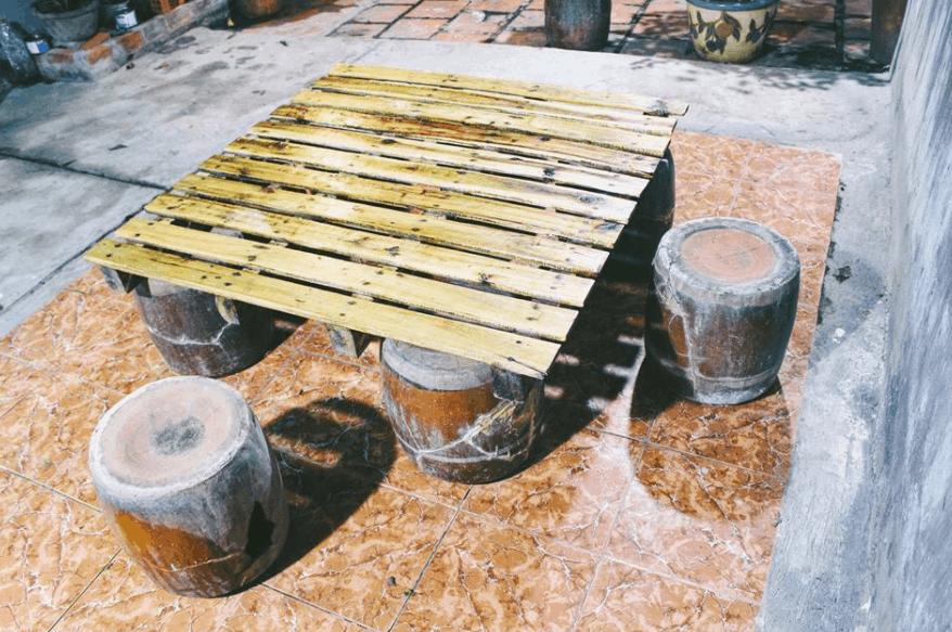 Một góc nhỏ ngoài sân An Yên Homestay