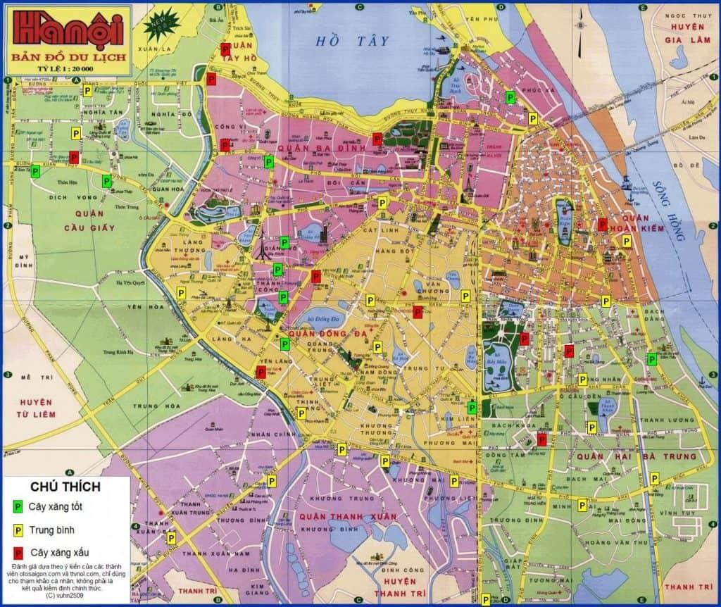 Bản đồ đường Hà Nội có thể mua tại các nhà sách Hà Nội