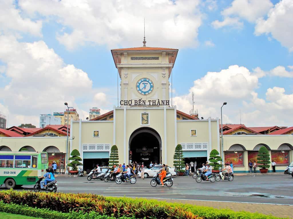 Chợ Bến Thành - biểu tượng của Sài Gòn. Ảnh: ST