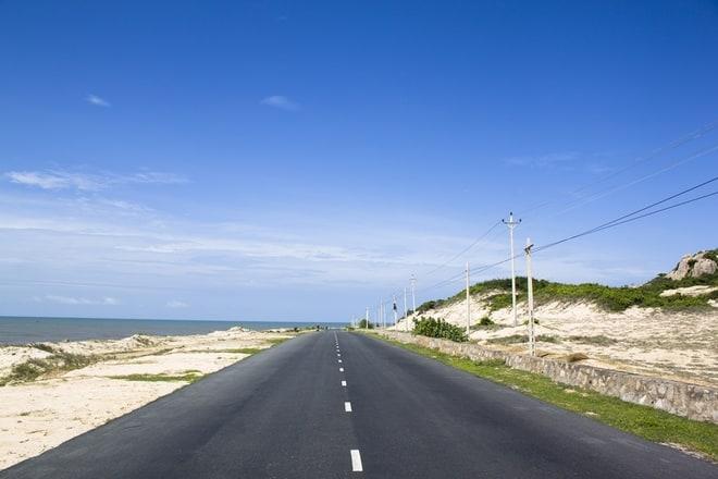 Đường đi Vũng Tàu bằng xe máy gần nhất (ảnh ST)