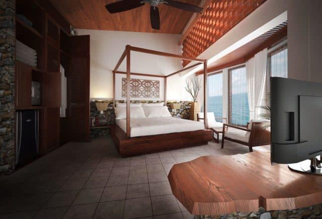 Phòng ngủ view biển cực đẹp ở Aurora - Ảnh: Sưu tầm