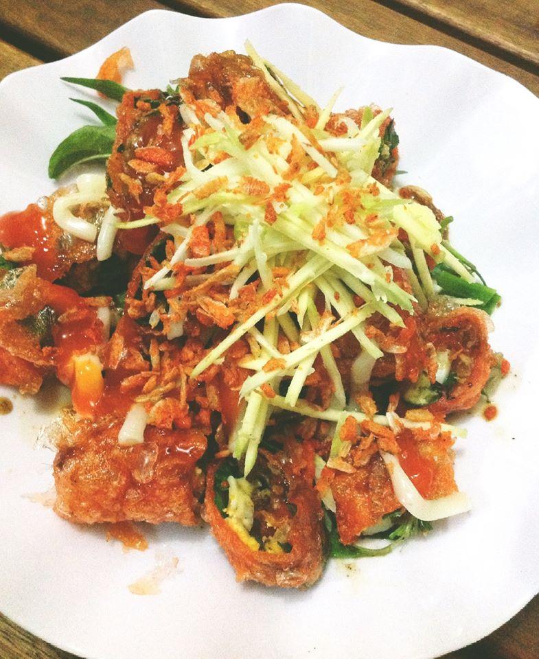 Bánh tráng cuốn - chế biến bánh tráng tôm Tây Ninh