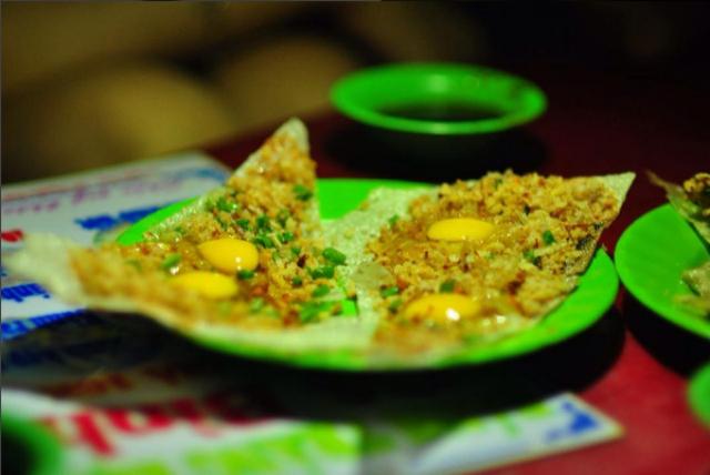 bánh tráng nướng trứng - bánh tráng Bình Định