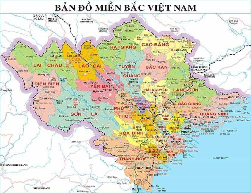 Bản đồ Va Danh Sach Cac Tỉnh Miền Bắc Việt Nam Vntrip Vn