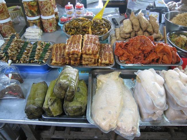 Đồ chay ở chợ Long Hoa Tây Ninh