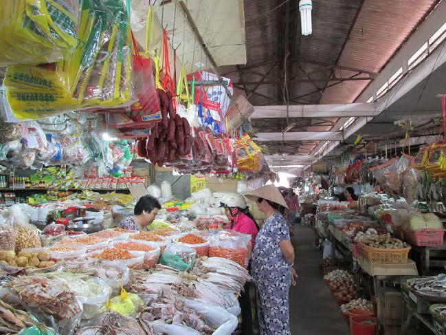 Đồ khô ở chợ Long Hoa Tây Ninh