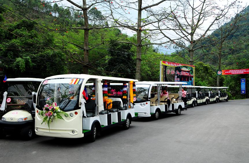xe điện du lịch Tam Đảo Tây Thiên