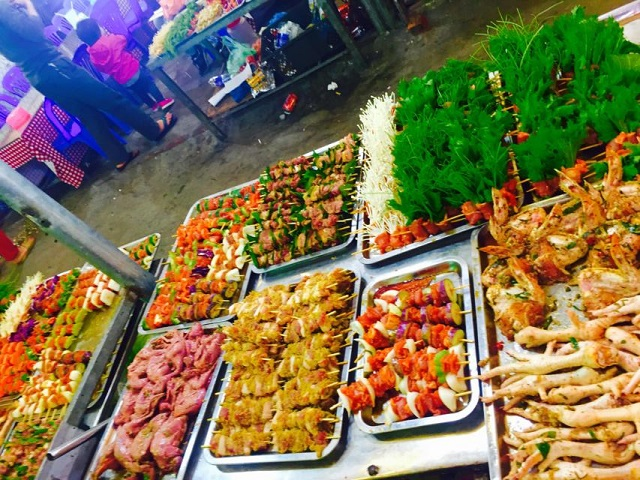 những món ăn tại chợ đêm Tam Đảo