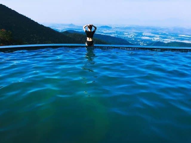 Hồ bơi vô cực nổi tiếng ở Tam Đảo (Ảnh: ST)