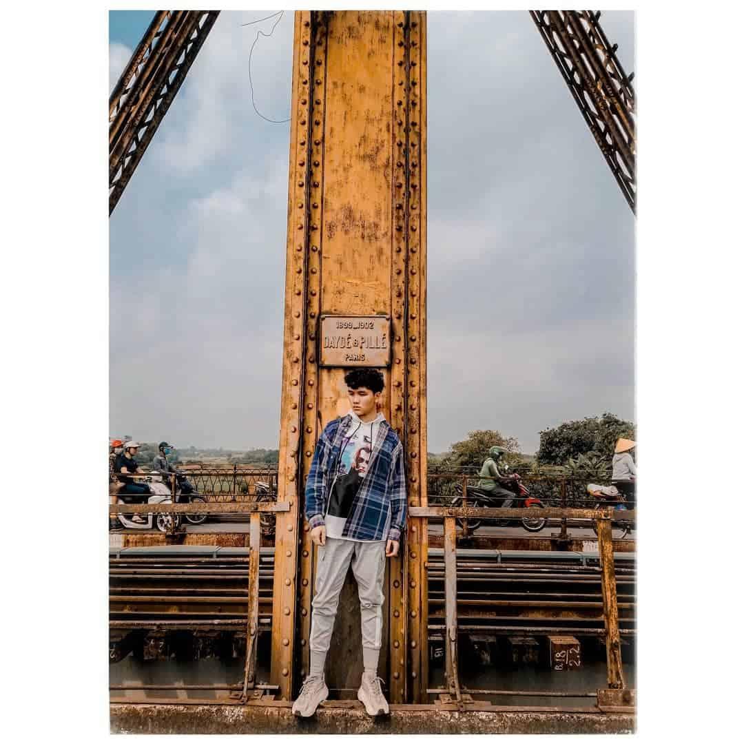 Những bức ảnh cực chất được chụp trên cầu Long Biên. Ảnh: @ vuongcongnamsusuboy
