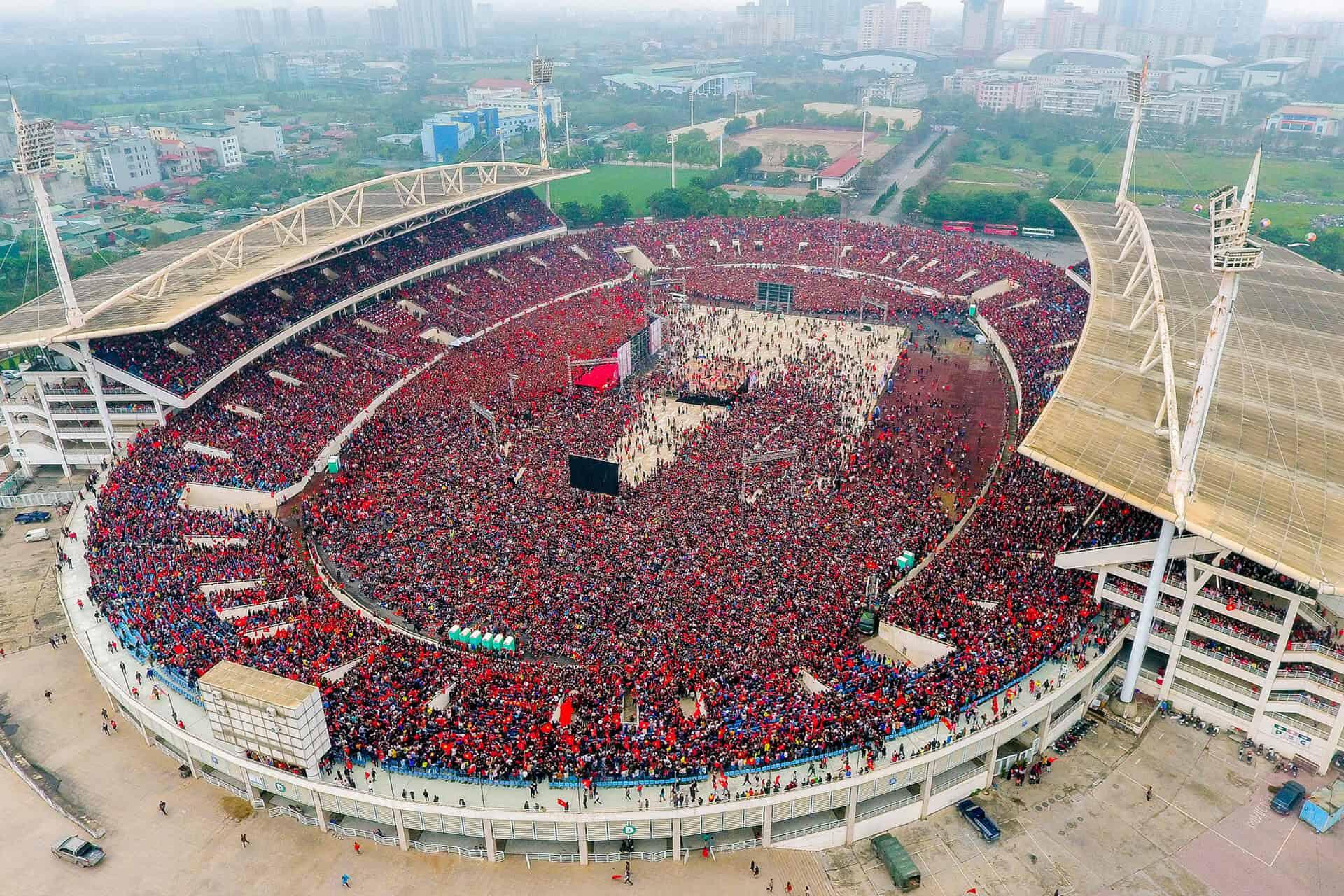 Sân vận động quốc gia Mỹ Đình là nơi tổ chức nhiều các sự kiện, liveshow âm nhạc lớn của cả nước. Ảnh: ST