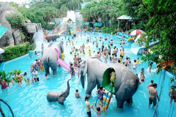 Đi chơi sài gòn 1 ngày với Công viên nước Đầm Sen thu hút du khách vào mùa hè (Ảnh: Sưu tầm)