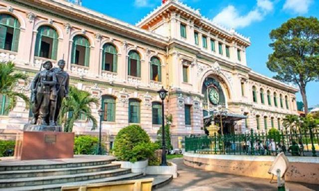 Địa điểm du lịch ở sài gòn - Bưu Điện Hồ Chí Minh