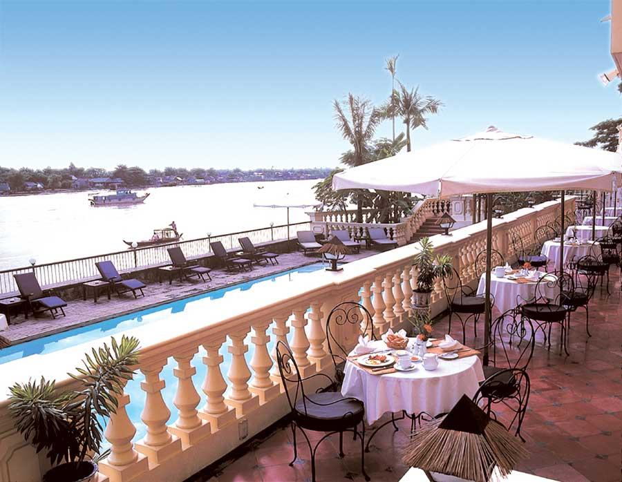 Nhà hàng khách sạn Victoria Chau Doc (Ảnh: ST)
