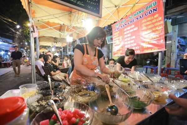 ẩm thực chợ đêm phố cổ hà nội
