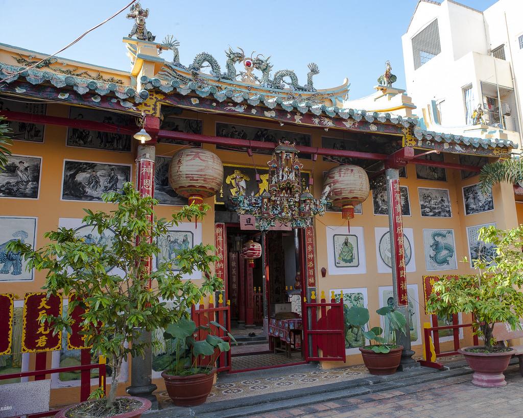 Kiến trúc Trung Hoa của chùa Ông (nguồn sưu tầm)