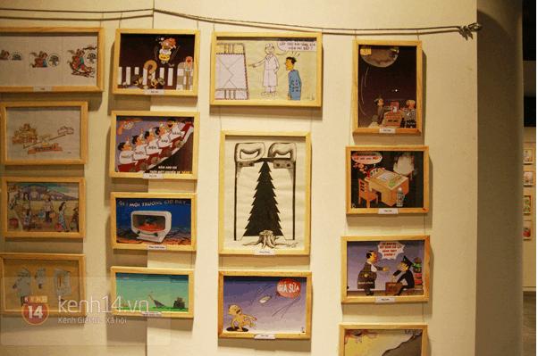 Phòng triển lãm tranh thể hiện sự sáng tạo của các bạn trẻ Việt Nam