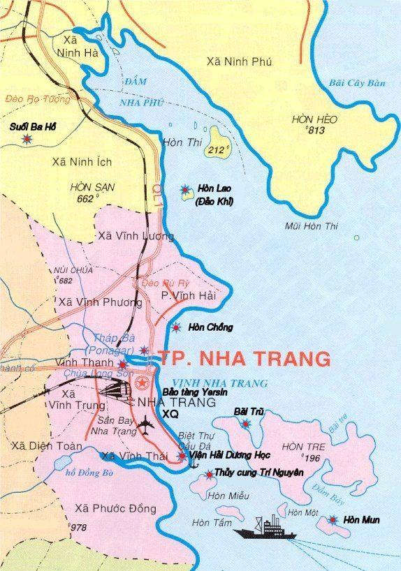 Bản đồ du lịch Nha Trang chỉ đường