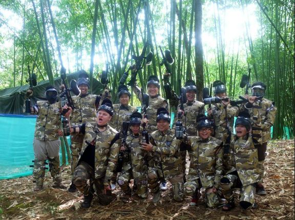 Khu du lịch rừng Madagui với trò bắn súng sơn