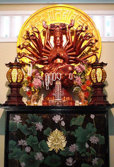 Bàn thờ Bồ tát Chuẩn Đề