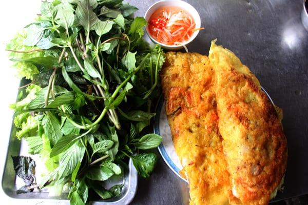 Bánh xèo hải sản Bình Ba (Ảnh: ST)