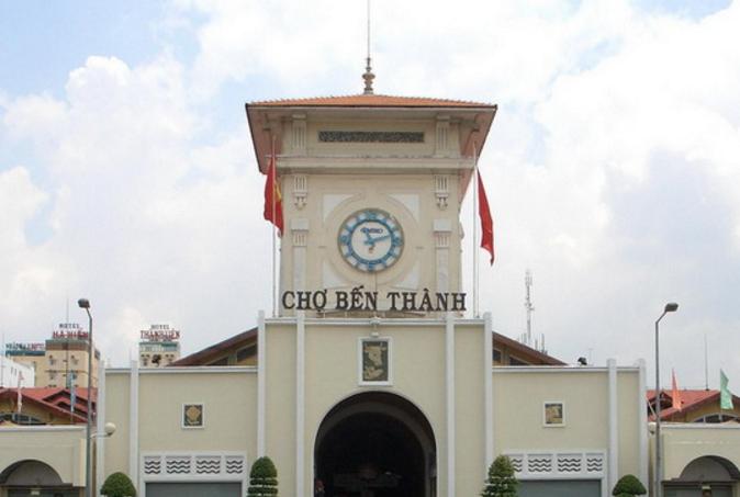 Tháp Đồng Hồ - biểu tượng của chợ Bến Thành