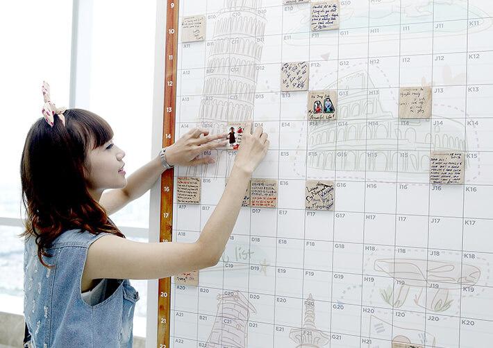 bức tường Wish Wall ở Keangnam