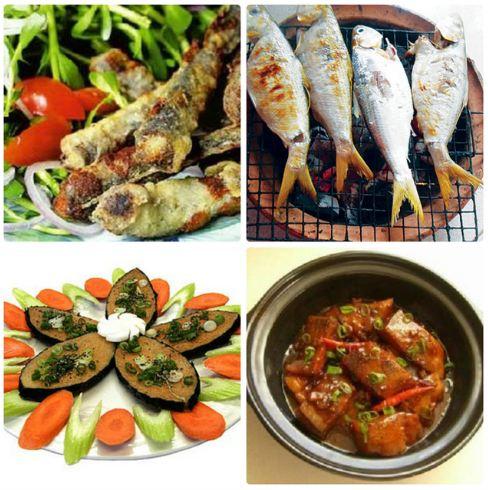Các món ăn đặc sản như cá cháy