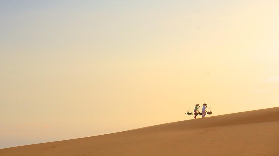 Vẻ đẹp ấn tượng của đồi cát lúc ngày tàn