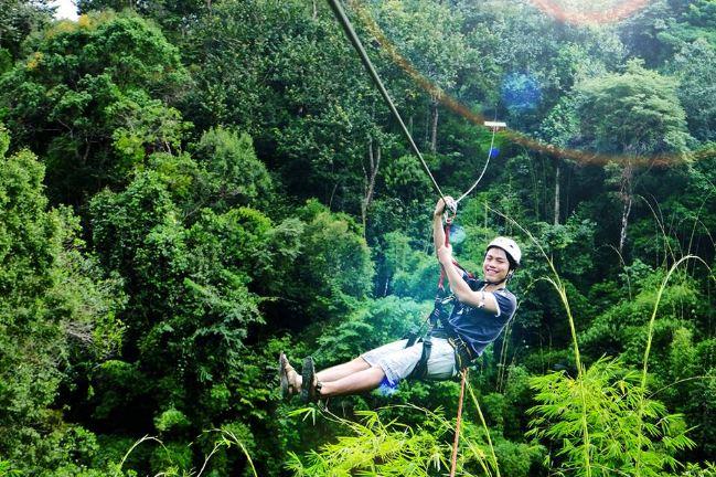 Khu du lịch rừng Madagui với trò chơi đu dây