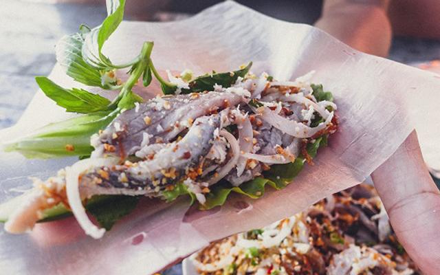 Gỏi Cá Nhệch món ăn đậm chất vùng biển