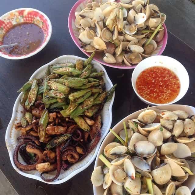 Những món hải sản đảo Thạnh An cực tươi ngon hấp dẫn. Ảnh @nguyen.phuong.uyen