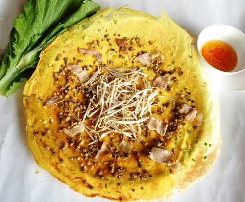 Hình ảnh món bánh xèo ốc gạo (Ảnh: ST)
