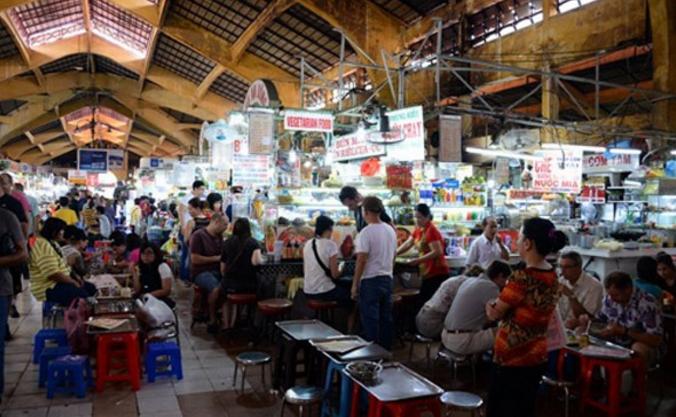 Khu ăn uống thu hút khách du lịch của chợ Bến Thành