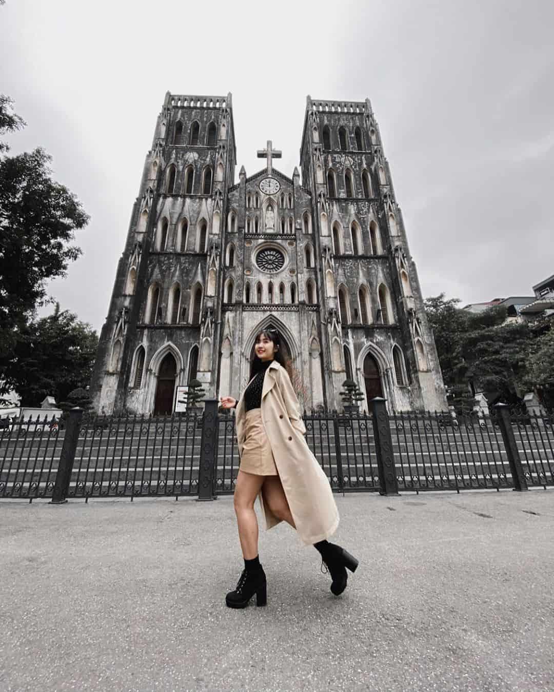 Nhà thờ lớn Hà Nội - uy nghiêm và cổ kính. Ảnh: @tinhvo97