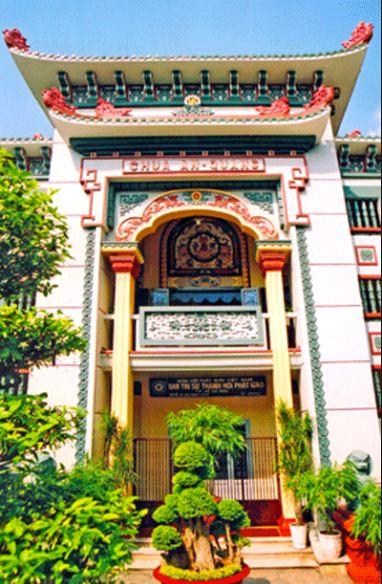 Cổng vào Chùa Ấn Quang Sài Gòn